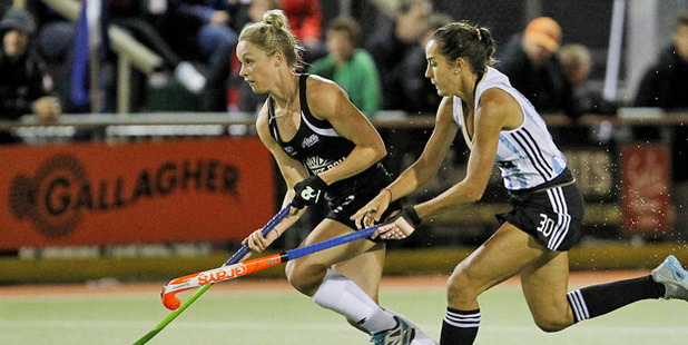 Anita Punt in action for the Black Sticks. Photo / Christine Cornege