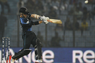 Kane Williamson scored 42, 70 percent of New Zealand's total of 60. Photo / AP