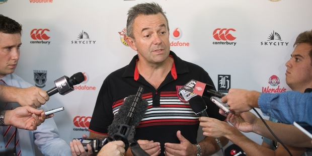 Warriors' chief executive Wayne Scurrah says he is in for the long haul with the NRL club - through good times and bad. Photo / Greg Bowker