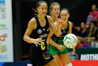 Courtney Tairi in action at ASB Arena for Magic against West Coast Fever last Sunday. Photo/George Novak