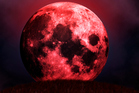 A 'blood moon' is caused by the sun refracting through the Earth's atmosphere and hitting the surface of the moon. Photo / Thinkstock