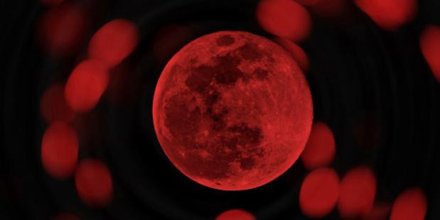 Blood moon. Photo / Thinkstock