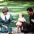 1983 - Prince Charles, Princess Diana and Prince William on the front lawn of Government House, New Zealand. Photo / NZH