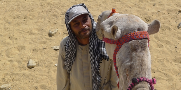 It's so slow at the Giza Pyramids that Salam Abdullah, who has six children, sold one of his three camels. Photo / Christopher Adams