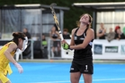 New Zealand captain Kayla Whitelock (above) rues missing the Black Sticks' third successive penalty-corner attempt on Sunday. Photo/Duncan Brown