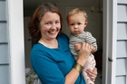 Jessica Nickelson with 14-month-old daughter, Leila Grenside. Photo / Mark Mitchell