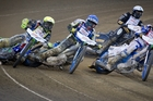 Australians Darcy Ward and Troy Batchelor racing against Swedes Andreas Jonsson and Fredrik Lindgren on Saturday. Photo / Sarah Ivey