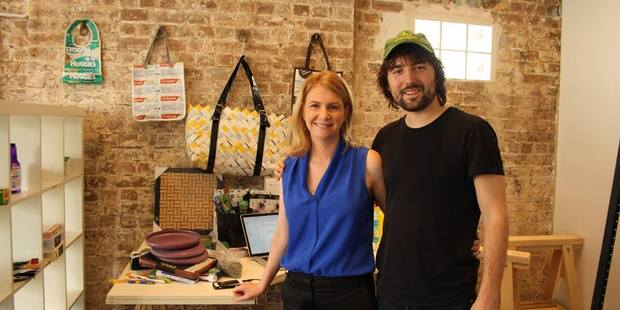 TerraCycle CEO Tom Szaky and Australia & New Zealand GM Anna Minns are working to expand the company's recycling operations in the Asia-Pacific. Photo / Supplied