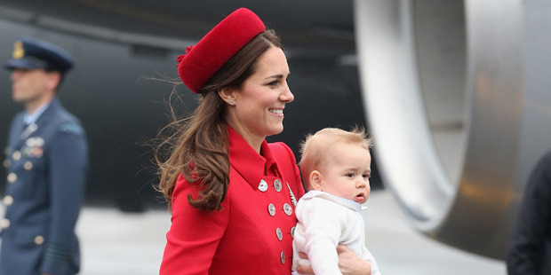 Catherine, Duchess of Cambridge and Prince George. Photo / Getty Images