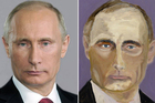 Bush's portrait of the truculent Russian leader is remarkably similar to the first Google images result. Photo / EPA