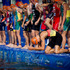 Triathletes lining up for the swim. Photo / Sarah Ivey
