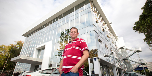 Scotty's Brett Cranston, whose latest building is in New Lynn, says the converted office buildings are a cheaper alternative to flatting. Photo / Greg Bowker