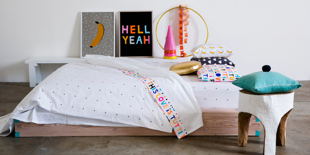No more matchy-matchy. Photo / Castle & Things bedlinen