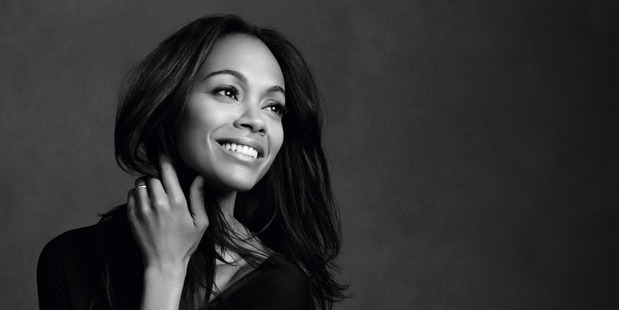 Zoe Saldana, the new face of L'Oreal Paris. Picture / Supplied