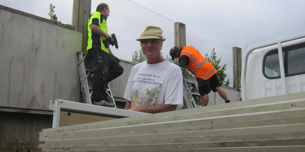 The Lakes resident Bob Bowhill is thrilled perspex panels on a sound barrier have been removed to prevent birds from continually flying in to it.