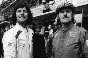 Howden Ganley (left) with British F1 star Graham Hill (above) Pictures/Terry Marshall