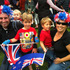 The Haydon family: dad Shane, 21-month-old Edward, William, 5, Samuel, 3, and mum Sarah wait in the crowd at Syemour Square Blenheim.  Photo / Kurt Bayer