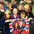 Sally Small and friends at Seymour Square in Blenheim wait in the crowd at Syemour Square Blenheim for the arrival of the Duke and Duchess of Cambridge. Photo / Teuila Fuatai