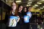 Claudia Capener, 15, Hinewai Cousins, 16, Kelsey Stringe, 16 and Tamia Leonard, 16. Photo / George Novak