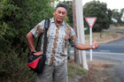 Mana leader Hone Harawira can probably lay claim to being Parliament's only regular hitchhiker. Photo / Doug Sherring