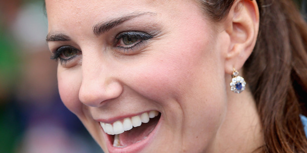Catherine, Duchess of Cambridge smiling as she greets the crowds in Blenheim yesterday. How will she enjoy her day on the water in Auckland today?