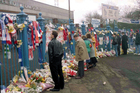 96 fans were crushed at Hillsborough Football Stadium when the crowd surged forward. Photo / AP