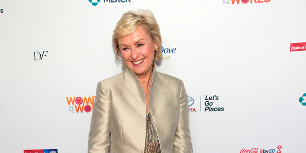 Bringloe was praised by former magazine editor Tina Brown (pictured) in an article wisely suggesting her as an alternative role model to celebrities. Photo / AP
