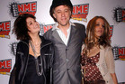 Bob Geldof with his daughters Pixie, left, and Peaches at the NME Awards 2006 in London.  Photo / File
