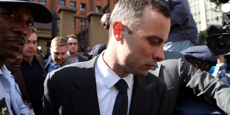 Oscar Pistorius, leaves the high court in Pretoria, South Africa, Tuesday, April 8, 2014. Photo / AP