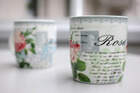 Coffee cups with a small Hitler portrait are pictured in Bielefeld Germany. Photo / AP