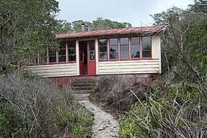 Bach  114, about 100m from the wharf at Islington Bay, is the first of three Rangitoto baches to be restored for public use.