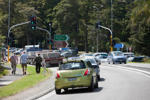 Many of the 14,000 vehicles a day expected to use the new road by 2026 will double back to Warkworth's often bottlenecked Hill St turnoff to eastern beaches. Photo / APN