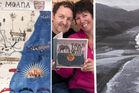 Rotorua publishers and illustrators Martin Page and Tania Short with a copy of Taka Ki Ro Wai.