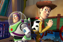 Scene from the Pixar film Toy Story.