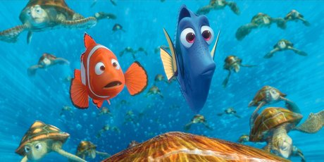 Finding Nemo, animated Pixar film.