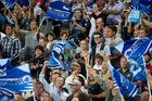 Forty per cent of fans going to Blues games at Eden Park use public transport. Photo / Richard Robinson