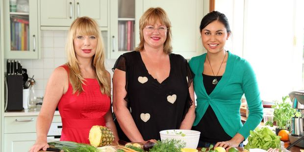 Here in New Zealand, businesswomen Cecilia Robinson, Theresa Gattung and Masterchef winner Nadia Lim created the weekly meal-planning service, My Food Bag. Photo / Kapiti News