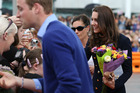 The Duchess of Cambridge looked genuinely happy to see everyone. Photo / Fiona Goodall