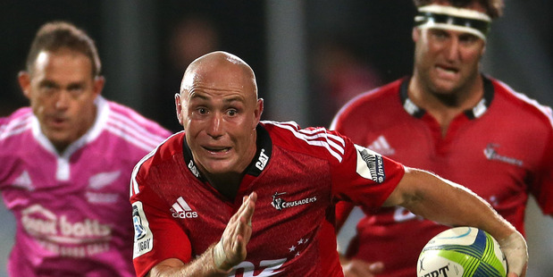 Willie Heinz of the Crusaders makes a break during the round four Super Rugby match between the Crusaders and the Stormers. Photo / Getty Images.
