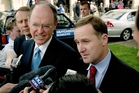National Party leader Don Brash and finance spokesman John Key. File photo / Kenny Rodger