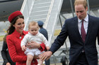 The Duke and Duchess of Cambridge - and young Prince George - arrived in Wellington this afternoon. Photo / Woolf/Crown