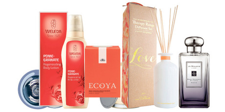The Body Shop, Weleda, Ecoya, The Aromatherapy Co and Jo Malone.