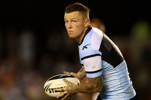 Todd Carney of the Sharks. Photo / Getty Images