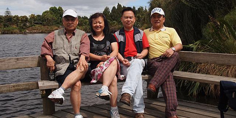 Bao Xiang Chen (Cissy's father), Cissy Chen, Peter Chen, Philip Chen. Photo / NZ Police
