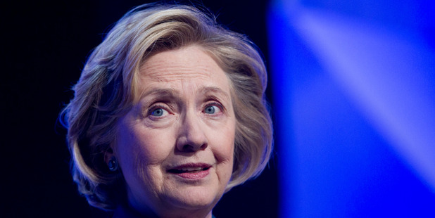 Former US Secretary of State Hillary Rodham Clinton. Photo / AP