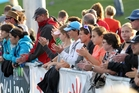 Spectators flocked to Unison Stadium in Hastings to watch the Black Sticks women play China in the Hawke's Bay Festival of Hockey yesterday. Photo/Duncan Brown
