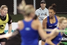 Black Sticks women's hockey coach Mark Hager puts his charges through the spin-dry cycle during a training session at Unison Hockey Turf in Hastings, last night. Photo/Duncan Brown