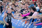 Ryan Sissons of New Zealand finished sixth in the elite men's section of the Barfoot & Thompson   ITU World Triathlon series. Photo / Sarah Ivey