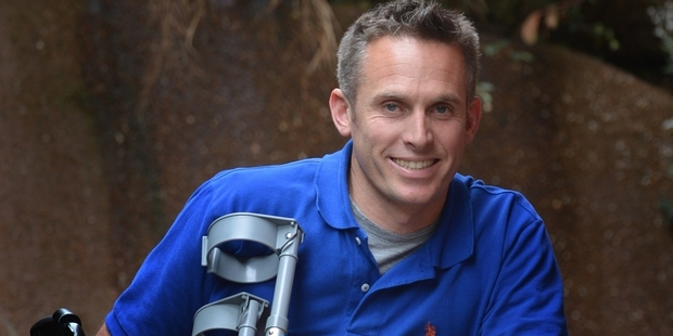 Matt Stewart fell about 20m while on a rock-climbing expedition near Wanaka. Picture / Otago Daily Times