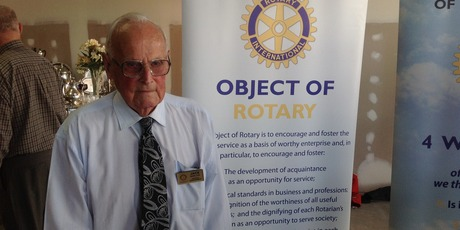 Jack Barlow, 98, has been a Rotary member for 60 years and enjoys giving back to the community.